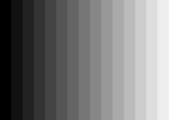 Large greyscale to calibrate your monitor